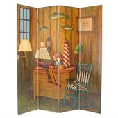 Wayborn Hand Painted Fisherman Room Divider