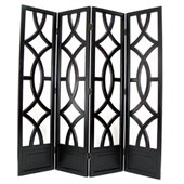 Wayborn Charleston Room Divider in Antique Black