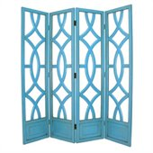 Wayborn Charleston Room Divider in Teal