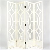 Wayborn Charleston Room Divider in Whitewash
