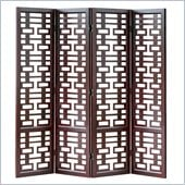 Wayborn Double Happiness Room Divider in Dark Brown