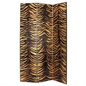Wayborn Gold Leaf Zebra Room Divider in Black/Gold