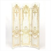 Wayborn Hand Painted Classic Scroll Room Divider in Black/Gold