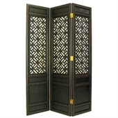 Wayborn Suchow Window Room Divider in Antique Black