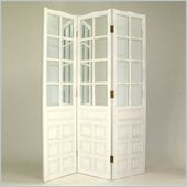 Wayborn French Mirror Room Divider in Whitewash