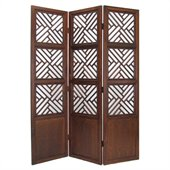 Wayborn Lattic Room Divider in Walnut