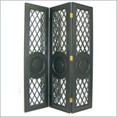 Wayborn Mirror Room Divider in Antique Black
