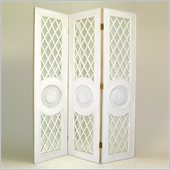 Wayborn Mirror Room Divider in Whitewash