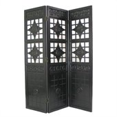 Wayborn Lattice Room Divider in Antique Black
