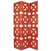 Wayborn Hunter Room Divider in China Red