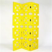 Wayborn Hunter Room Divider in Yellow