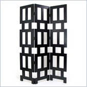Wayborn Abertson Room Divider in Antique Black