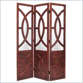 Wayborn Brown Florance Room Divider in Walnut