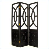 Wayborn Florence Room Divider in Antique Black