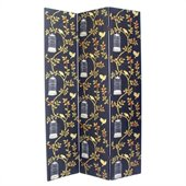 Wayborn Hand Painted Birdcase Room Divider