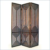 Wayborn Chinese Oakwood Sarawak  Room Divider in Brown