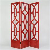 Wayborn Charleston Room Divider in China Red