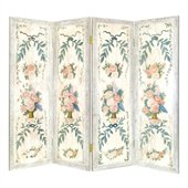 Wayborn Hand Painted Light Floral Wall Room Divider