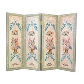 Wayborn Hand Painted Floral Wall Room Divider
