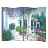 Wayborn Hand Painted Patio Wall Room Divider
