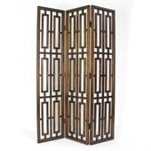 Wayborn Chinese Oakwood Bookmark Room Divider in Brown