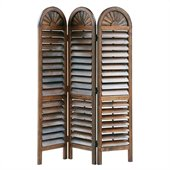Wayborn Chinese Oakwood Royal Venetian Room Divider in Brown
