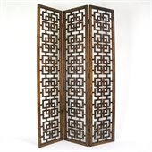 Wayborn Chinese Oakwood Full House Room Divider in Brown