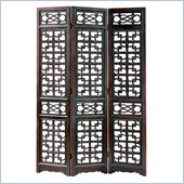 Wayborn Chinese Oakwood West Lake Room Divider in Brown