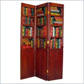 Wayborn 3 Panel Book Room Divider in Wood Tone