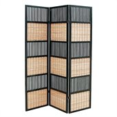 Wayborn Tata Room Divider in Black/Brown