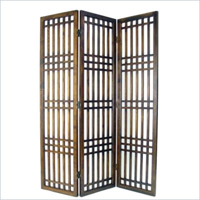Wayborn Chinese Oakwood Kyoyo Room Divider in Brown