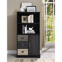 Altra Furniture Blackburn 2 Shelf Bookcase in Black