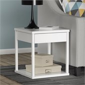Altra Furniture Square End Table in White