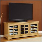 Altra Furniture 61 Inch Traditional TV Stand in Natural Oak