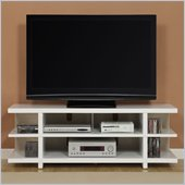 Altra Furniture Hollow Core 60 Inch TV Stand in White