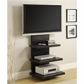 Altra Furniture Hollow Core AltraMount TV Stand in Black