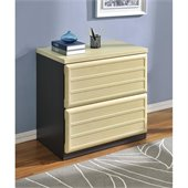 Altra Furniture Benjamin Lateral Filing Cabinet in Natural and Gray