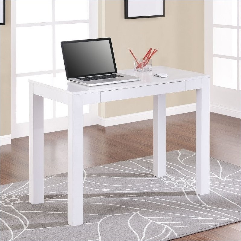 Parsons Writing Desk In White 9178096