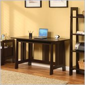 Altra Furniture Modern Mission Computer Desk in Chocolate Wenge