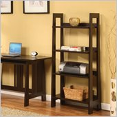 Altra Furniture Modern Mission Bookcase in Chocolate Wenge