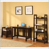Altra Furniture Modern Mission 3 Piece Office Set in Chocolate Wenge