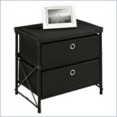 Altra Furniture Two Bin Storage Unit in Black