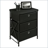 Altra Furniture Three Bin Storage Unit in Black