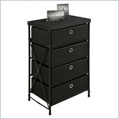 Altra Furniture Four Bin Storage Unit in Black