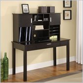 Altra Furniture Writing Desk with Hutch in Espresso