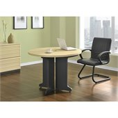 Altra Furniture Benjamin Round Table in Natural and Gray