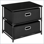 Altra Furniture 2 Bin Storage Unit in Black