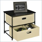 Altra Furniture 2 Bin Storage Unit in Black and Natural