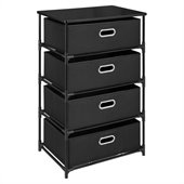 Altra Furniture 4 Bin Storage End Table in Black