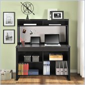 Altra Furniture Hardy Computer Desk with Hutch in Espresso